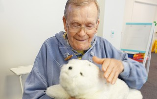 Robotic therapy seal provides comfort