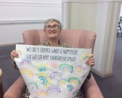 Baptistcare Graceford Resident with rainbow drawing