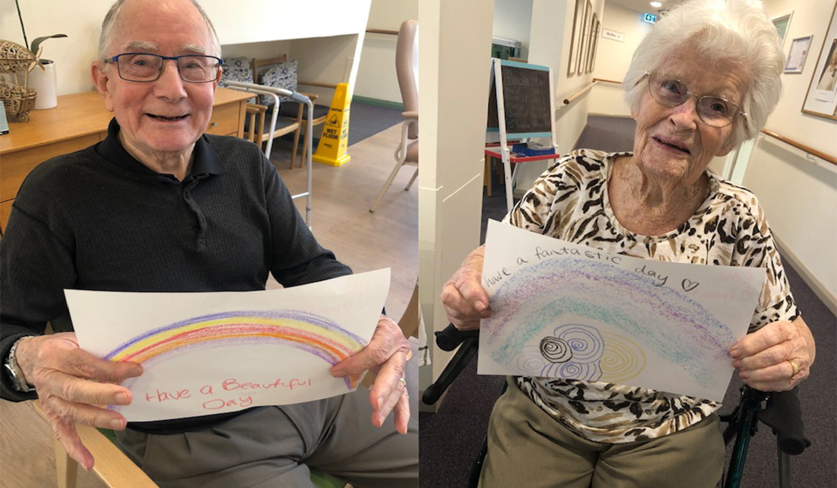 Rainbows spread hope for residents at Baptistcare Gracehaven during COVID-19